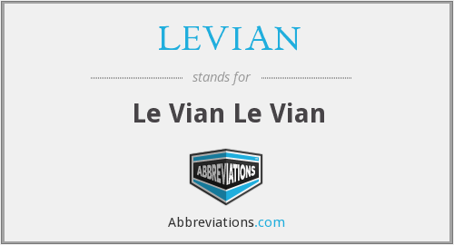 What does LEVIAN stand for?