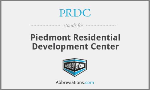 PRDC - Piedmont Residential Development Center