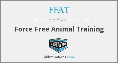 FFAT - Force Free Animal Training