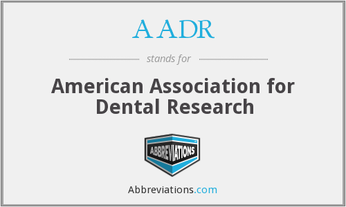 What does AADR stand for?