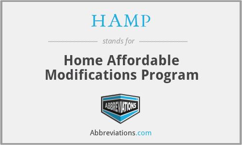 HAMP - Home Affordable Modifications Program