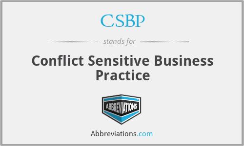 CSBP - Conflict Sensitive Business Practice