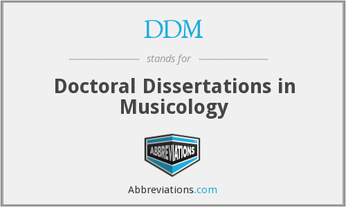 DDM - Doctoral Dissertations in Musicology