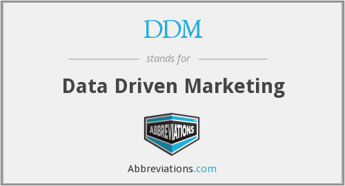 DDM - Data Driven Marketing