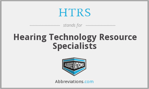 What does HTRS stand for?