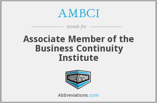 What does AMBCI stand for?