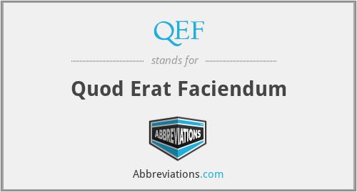 QEF - Quod Erat Faciendum