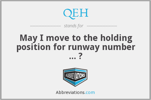 QEH - May I move to the holding position for runway number ... ?