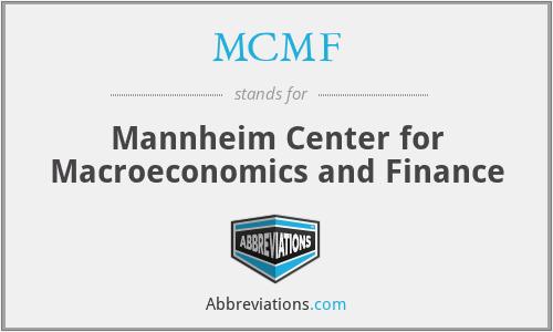 MCMF - Mannheim Center for Macroeconomics and Finance