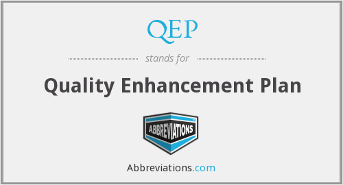 What does QEP stand for?