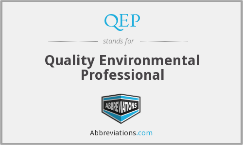 QEP - Quality Environmental Professional