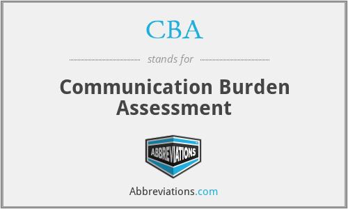 CBA - Communication Burden Assessment