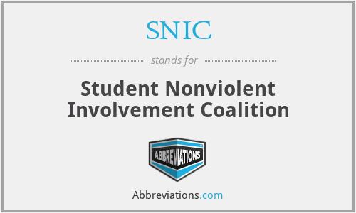 SNIC - Student Nonviolent Involvement Coalition