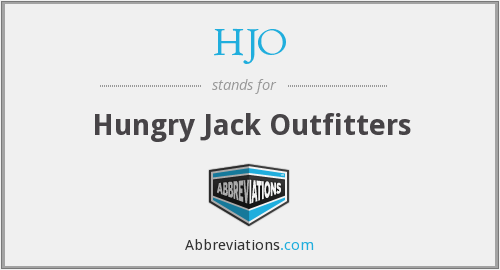 HJO - Hungry Jack Outfitters