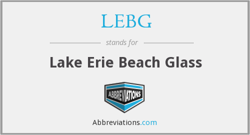 LEBG - Lake Erie Beach Glass