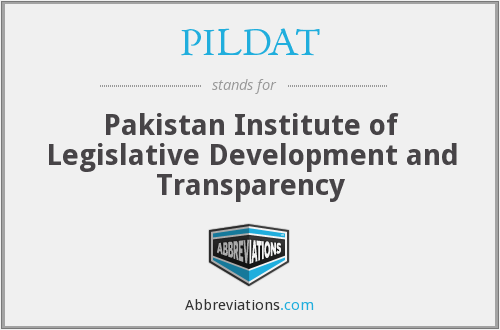What does PILDAT stand for?