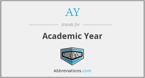 AY - Academic Year