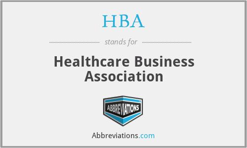 HBA - Healthcare Business Association