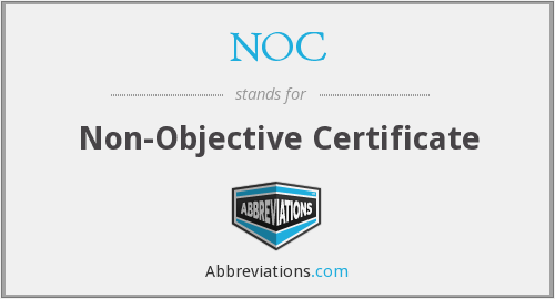 Noc non objective certificate download thecheapjerseys Image collections