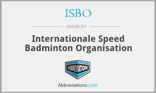 ISBO - Internationale Speed Badminton Organisation