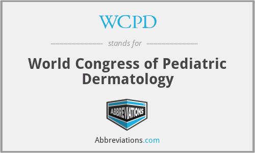 WCPD - World Congress of Pediatric Dermatology