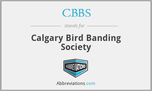 CBBS - Calgary Bird Banding Society