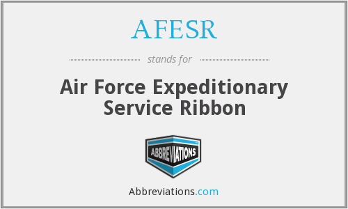 What does AFESR stand for?