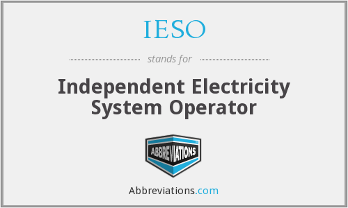 IESO - Independent Electricity System Operator