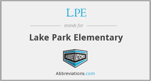 LPE - Lake Park Elementary