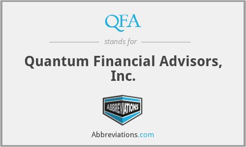 QFA - Quantum Financial Advisors, Inc.