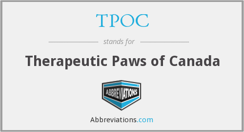 TPOC - Therapeutic Paws of Canada