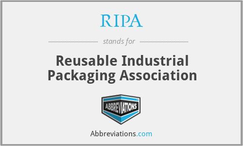 RIPA - Reusable Industrial Packaging Association