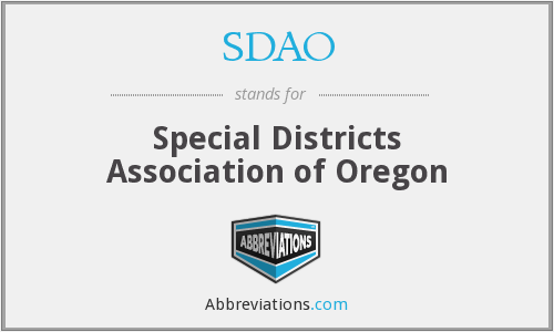 SDAO - Special Districts Association of Oregon