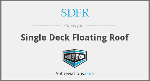 What does SDFR stand for?