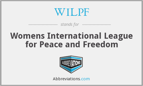 What does WILPF stand for?
