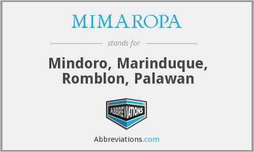 What does mindoro stand for?