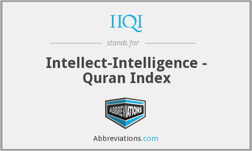 IIQI - Intellect-Intelligence - Quran Index