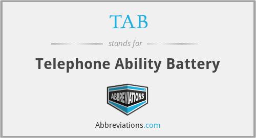 TAB - Telephone Ability Battery