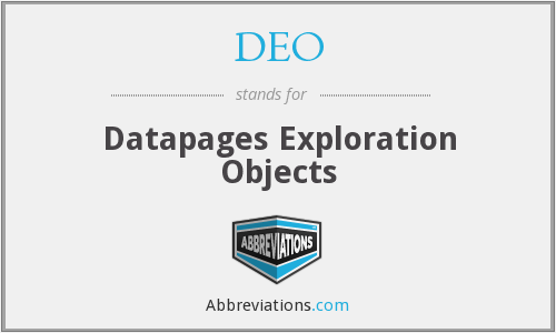 DEO - Datapages Exploration Objects