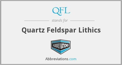 QFL - Quartz Feldspar Lithics