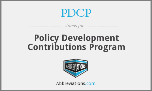 PDCP - Policy Development Contributions Program