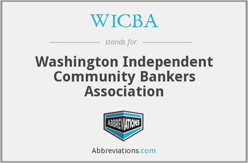 WICBA - Washington Independent Community Bankers Association