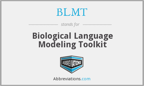 BLMT - Biological Language Modeling Toolkit