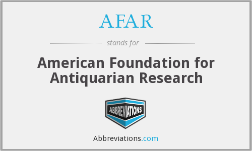 AFAR - American Foundation for Antiquarian Research