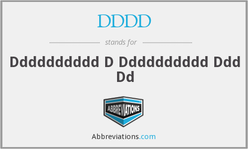 What does DDDD stand for?
