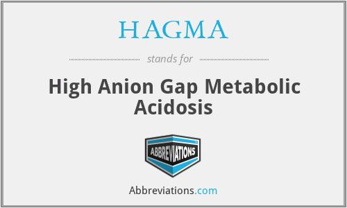 HAGMA - High Anion Gap Metabolic Acidosis