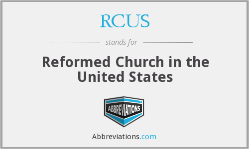 RCUS - Reformed Church in the United States