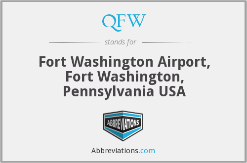 QFW - Fort Washington Airport, Fort Washington, Pennsylvania USA