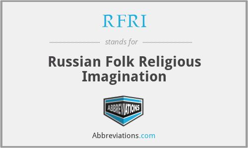 RFRI - Russian Folk Religious Imagination