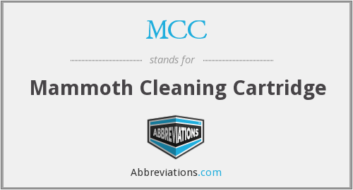 MCC - Mammoth Cleaning Cartridge